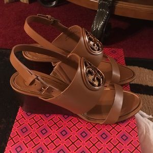 Tory Burch Metal Miller 65mm wedge new with box!